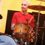 Charlie Watts of English rock band The Rolling Stones performs at the concert of their world tour, 14 On Fire, in Shanghai, China, 12 March 2014.